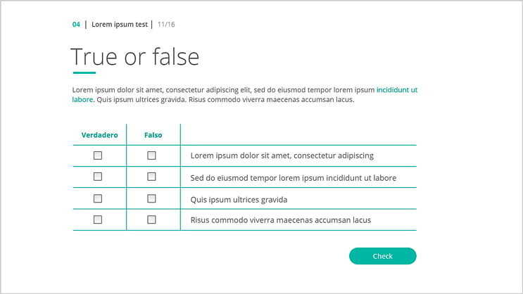 Storyline Template 360 True False